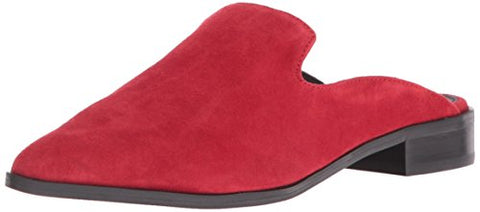 Shellys London Cantara Red Suede Flat Loafer Design Pointed Toe Mule Slide Shoes