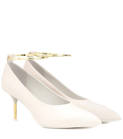 Jil Sander Leather Pump White
