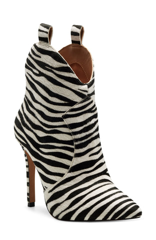 Jessica Simpson Women's Pixillez2 Fashion Back zip Stiletto Boot WHITE/BLACK