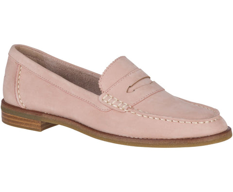 Sperry Seaport Penny Slip On Patent Loafer Shoe BLUSH