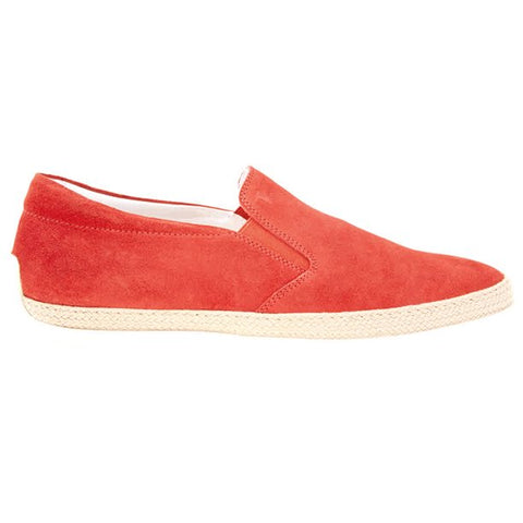 Tod's Men's Calfskin Leather Slip Ons Poppy Red XXM0TV0K900RE0R010
