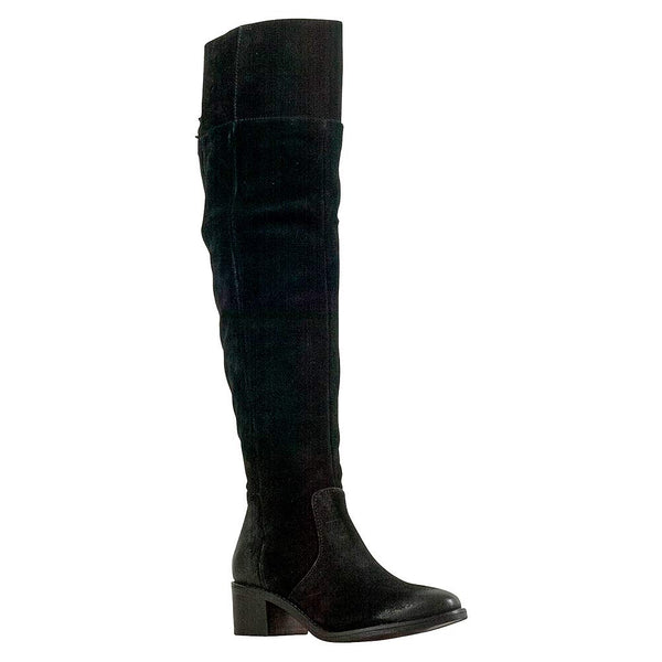 Miz Mooz Fitzgerald Black Suede Women's Over-The-Knee Boot