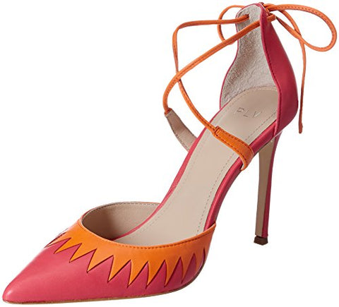 Pour La Victoire Women's Cenya Strappy Azalea Orange Pumps