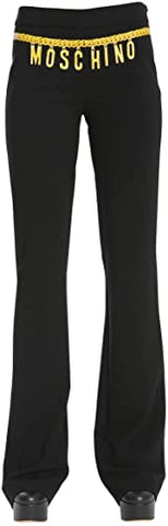 MOSCHINO Women's 100% Polyester Pants, Black J030204243555