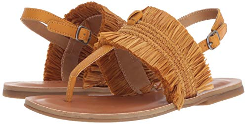 Lucky Brand Women's Akerlei Flat Sandal Thong Leather Flat Shoes