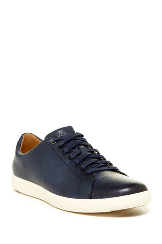 Cole Haan Men's Grand Crosscourt II fashion lace-up Sneakers, Navy Leather Brnsh