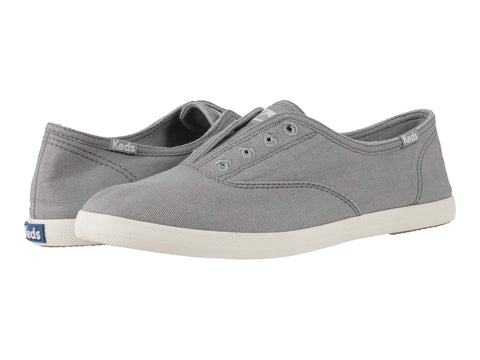 Keds Chillax Laceless Textile Slip On Round toe Lightweight Sneaker GRAY