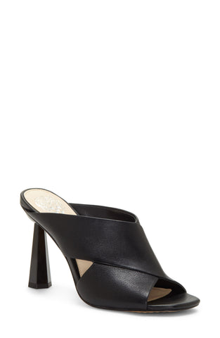 Vince Camuto Women's Averessa Wrapped Heel Peep-Toe Mule BLACK