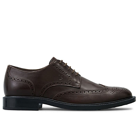 TOD'S Men's Brown Leather WINGTIP DERBY Shoes (12UK / 13 US)