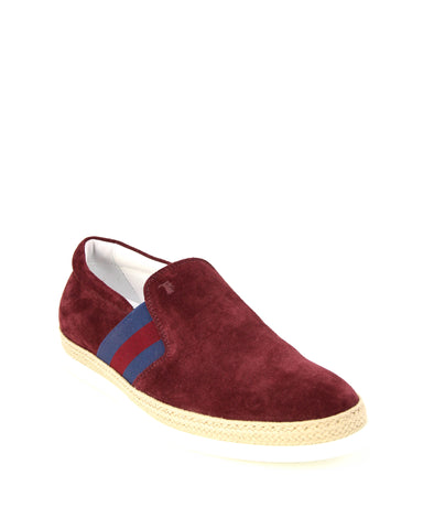 Tod's Men's PANTOFOLA Moccasins Loafers BORDEAUX XXM0TV0V530RE0R800