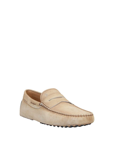 Tod's Men's Beige Gommini Loafer Leather