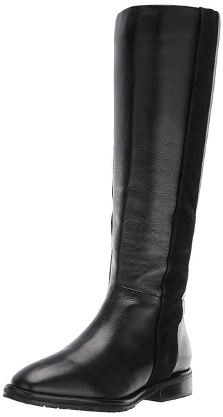 LFL by Lust For Life Mindset Leather Stacked Heel Mid Calf Riding Boot