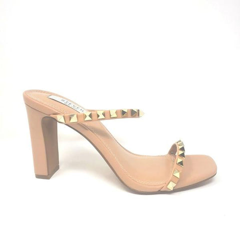 Steven By Steve Madden Jacee-s Studded HIgh Heel Open Toe Mule Sandals