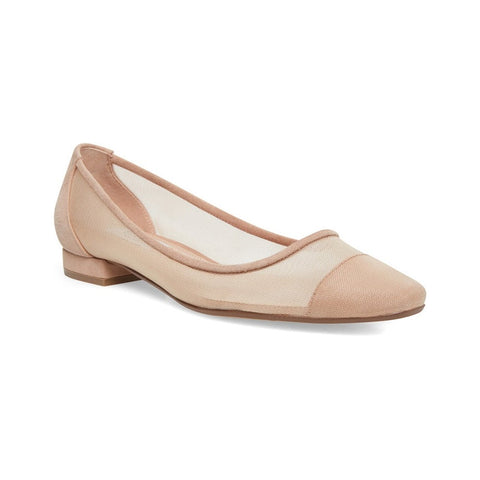 Steve Madden Women's Bridget Slip-In Almond Toe Flat NUDE MULTI