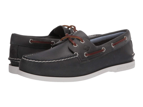 Sperry A/O 2 Eye Plushwave Slip On Boat Shoe NAVY