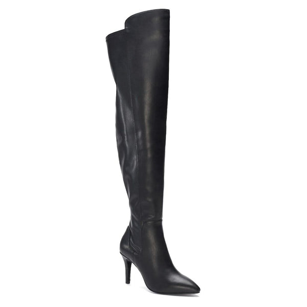 Charles by Charles David Vince Women's Tall Boots Black Leather Over Knee Boot