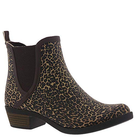 Lucky Brand Basel H20 Sesame Leopard Waterproof Pull On Chelsea Rain Snow Boot