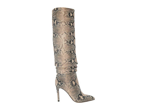 Vince Camuto Kashiana Stiletto Slouched Boot NATURAL Snake Dress Boots