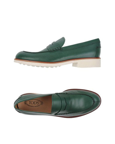 Tod's FONDO Gommino Moccasins Loafers Shoe GREEN