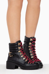 Cape Robbin Summit Lug Sole Lace Up Platform Ankle Boot