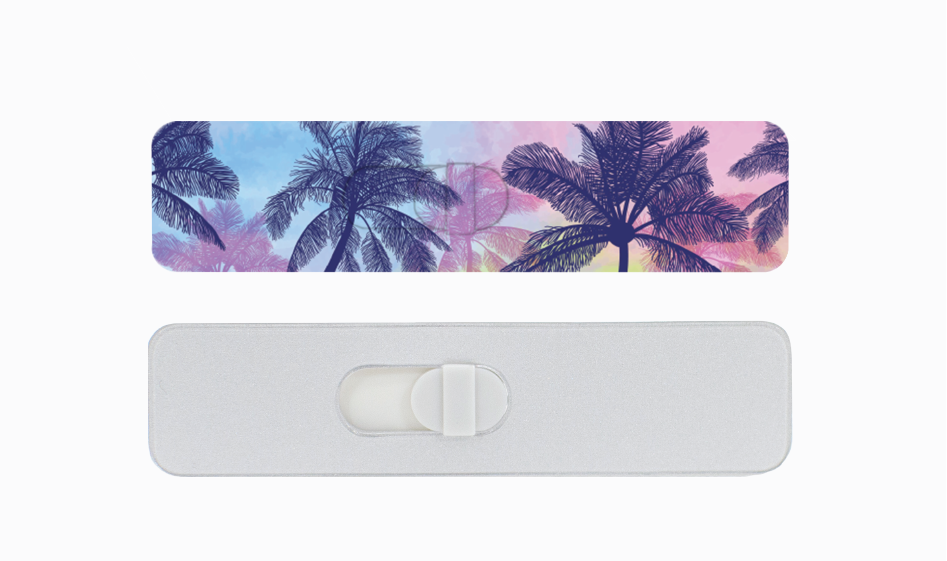 Kamshield Webcam Cover | Palm Trees + Silver