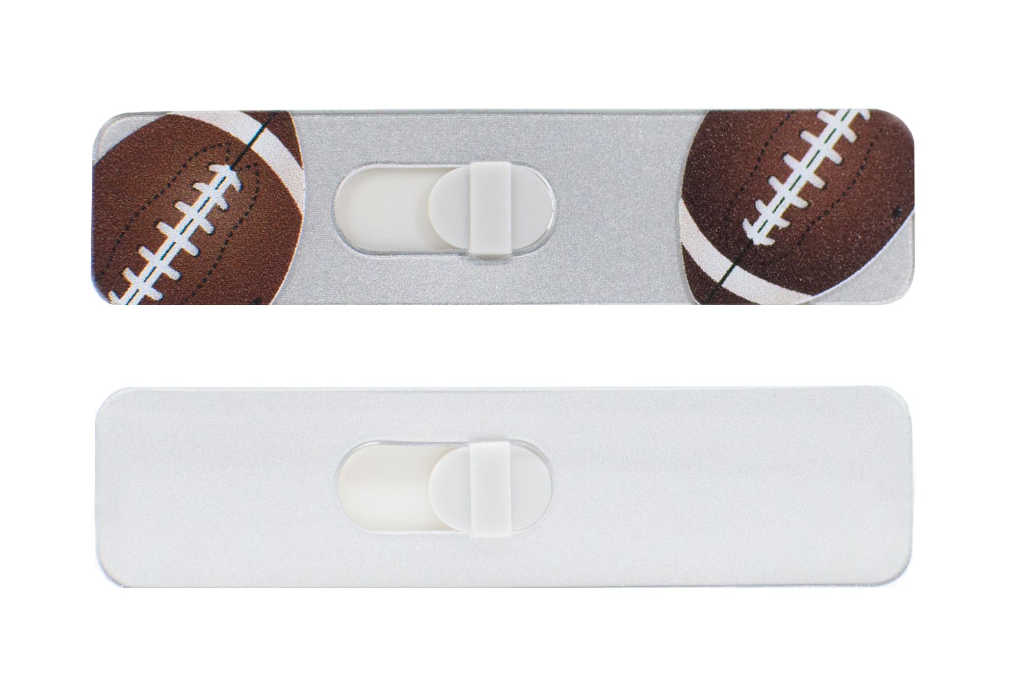 Kamshield Webcam Cover | Football + Silver