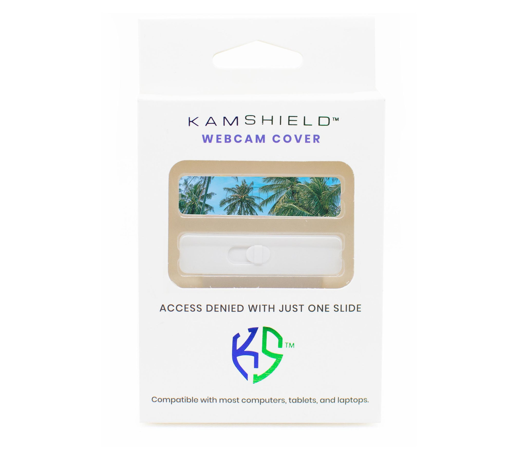 Kamshield Webcam Cover | Tropical + White