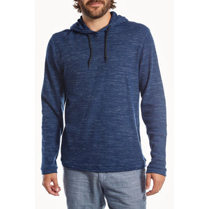 Navy Hooded Long Sleeve Pullover