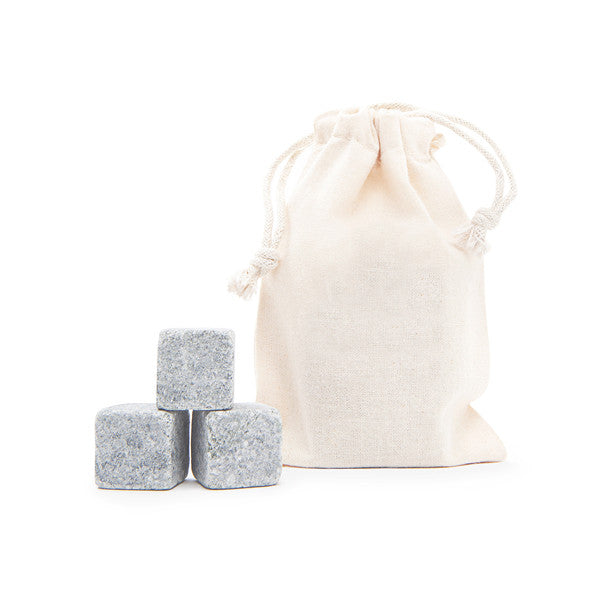 3 Tumbled Whisky Stones® + Plain Bag