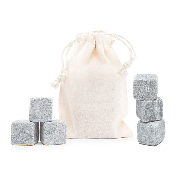 6 Tumbled Whisky Stones® + Plain Bag