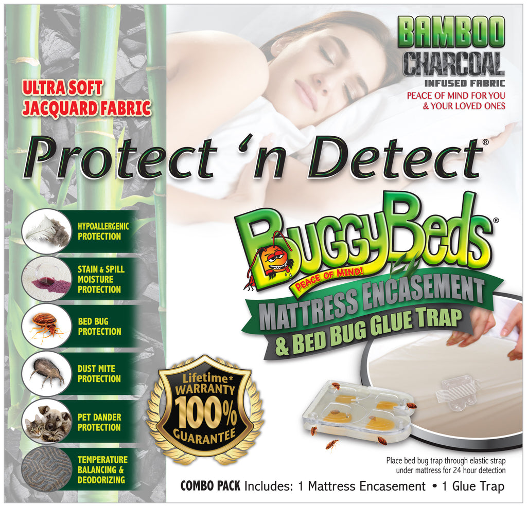 Bamboo Charcoal Infused Mattress Encasement and Bed Bug Glue Trap