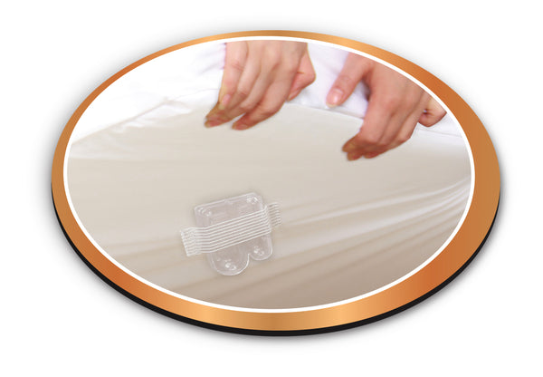 Bamboo Copper Infused Mattress Encasement and Bed Bug Glue Trap