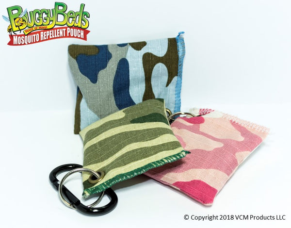 Camo Mosquito Repellent Pouch Bundle - 3 Pack