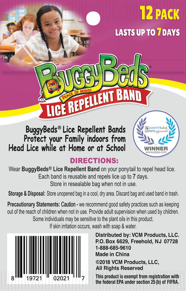 Lice Repellent Hair Bands - 12 Pack