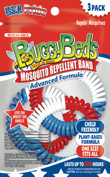 USA Mosquito Repellent Bands - 3 Pack
