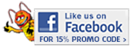 Like us on Facebook for 15% Off!