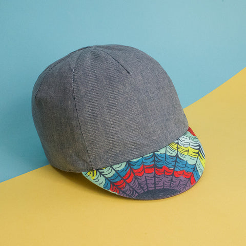 Wonder Web Spider Print Reversible Cycling Cap