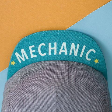 Mod. 220 Mechanic's Reversible Square-Brimmed Cycling Cap