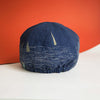 Mod.303 Boats by Night: The Classic Reversible Cap in Indigo Linen and Cotton