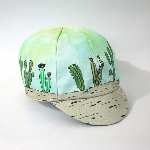 Cactus Print Reversible Cycling Cap front right