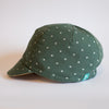 The Classic Reversible Cycling Cap in Lightweight Cotton in Green/Dusty Pink