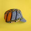 Mod.307 The Classic Reversible Cycling Cap in Afro Print/Bright Blue