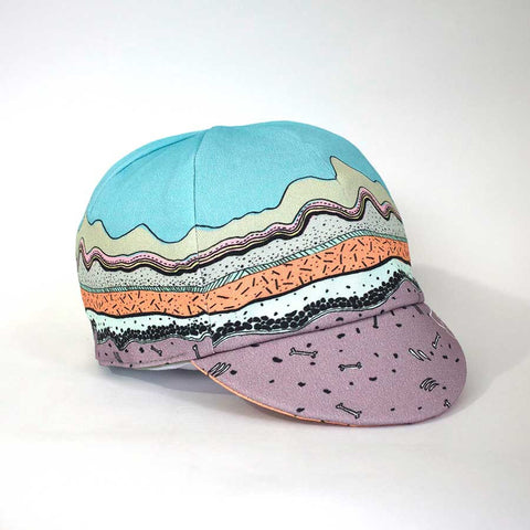 Geological Print Kids Reversible Cycling Cap front right