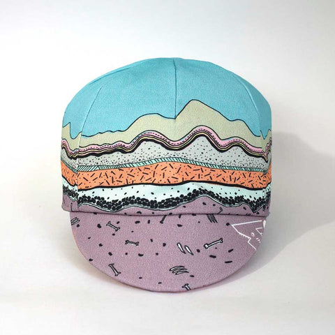 Geological Print Kids Reversible Cycling Cap front