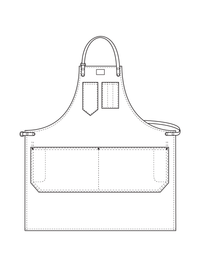 Shop Aprons with Fixed Leather Strap Illustration