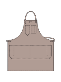 Shop Aprons with Fixed Leather Strap Illustration - color