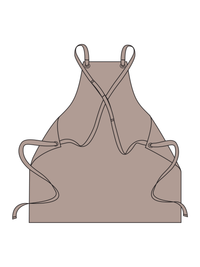 Cross Back Woodworking Apron Illustration - color