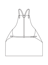 Y Strap Woodworking Apron Illustration - back