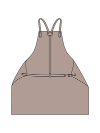 Y Strap Woodworking Apron Illustration - color