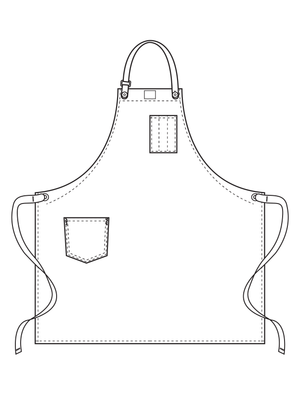leather strap universal cooking apron illustration
